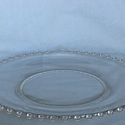 SOLD Imperial Glass Candlewick  Dinner Plate