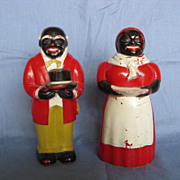 SALE Aunt Jemima & Uncle Mose Salt & Pepper
