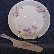 Hall China Tulip Pie Plate & Server