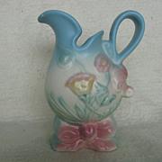 "Hull Pottery Bow-Knot Ewer, ""B-1-5-1/2"""