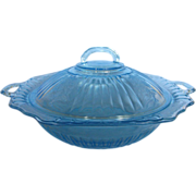 SOLD Mayfair Ice Blue Covered Vegetable Bowl