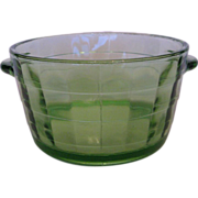 SOLD Depression Glass Block Optic Ice or Butter Tub