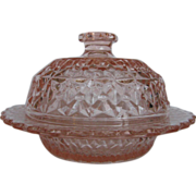 """Holiday, """"Buttons And Bows,"""" Butter Dish"""