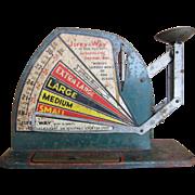 "Vintage ""Jiffy-Way"" Farm Master Egg Scale"