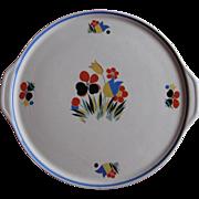 Universal Potteries Tab Handled Cake Plate