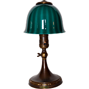 Signed Emeralite Junior Desk Lamp with Watermelon Shade