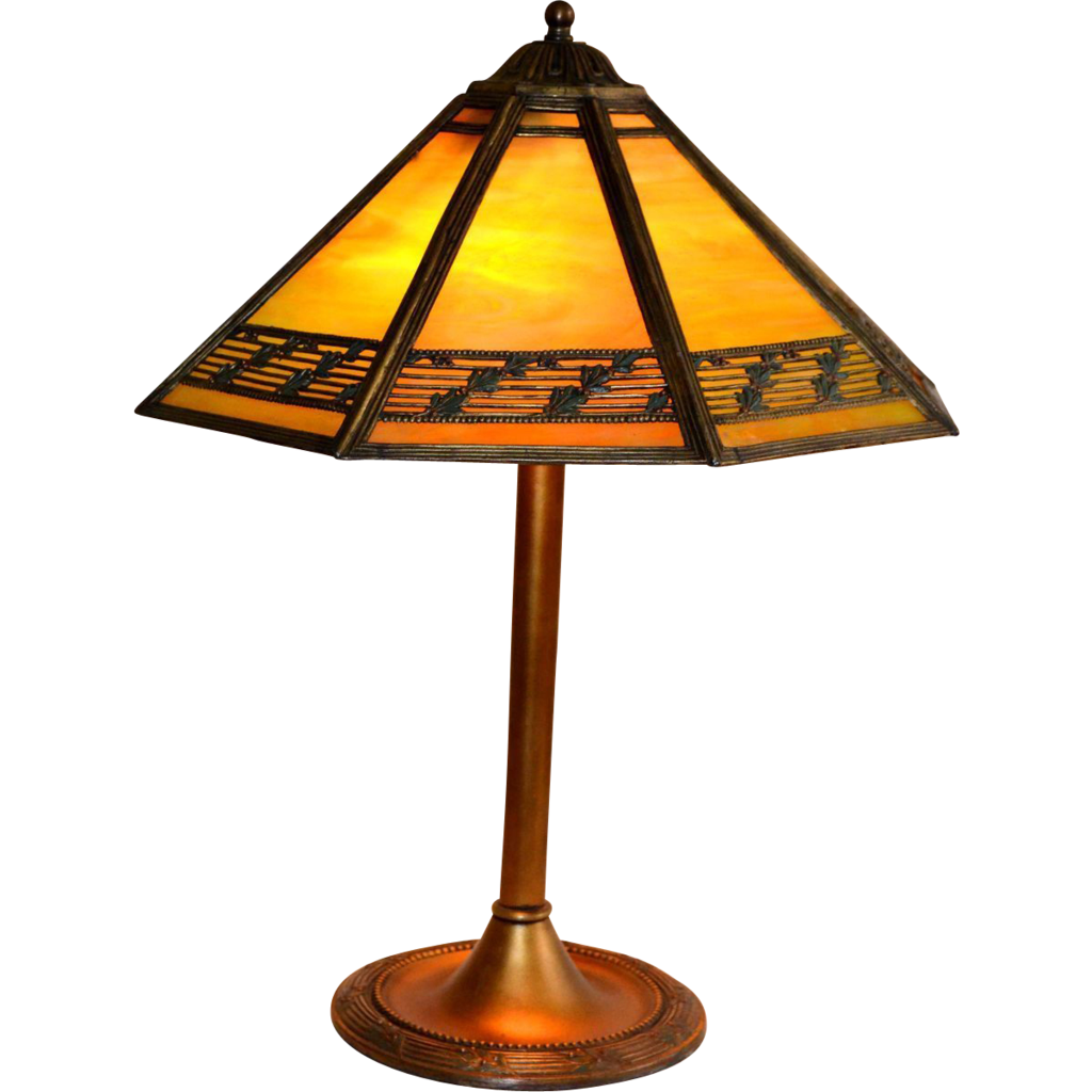 slag glass panel lamp in the arts and crafts style from. Black Bedroom Furniture Sets. Home Design Ideas
