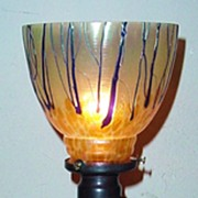 Chalice Style Lamp with Bohemian Glass Shade