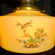 Flush Mount Fixture with Bird Motif and Original Brass Tassel