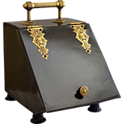 REDUCED Victorian Era Egyptian Revival Coal Scuttle