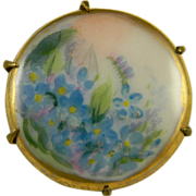 Small Hand Painted on Porcelain Pin