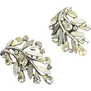 Pretty Mid Century Crown Trifari Earrings