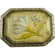 Great 1930's Reverse Painted Pin