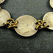 SALE Wonderful WWII British Coin Bracelet