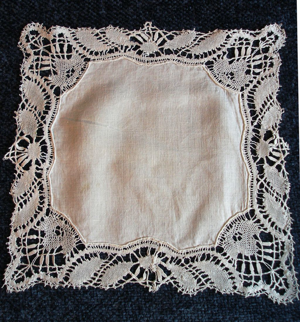 French Antique WEDDING Hankerchief 19th Century! Just in Time for JUNE!