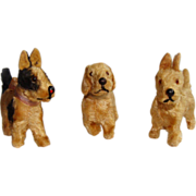 HOLIDAY SALE! Precious Trio of Puppy Dogs for your French Bisque Doll!