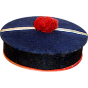 SOLD CLEARANCE French Candy Box as Sailor Hat for Your French Doll!