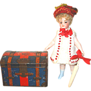 SOLD CLEARANCE French Candy Container as Travel Trunk for Your French Doll!