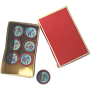 SOLD Tiny Violets French Boxes for Your Doll's Trinkets and Treasures!