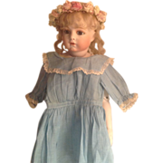 SOLD Blue Frock for Your Antique Doll! - Red Tag Sale Item