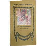 SALE Bebe Size French Book of Fables of de la Fontaine, Illustrated for Your French Doll!