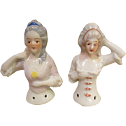 Cyber Monday PAIR of Pin Cushion Half-Dolls!