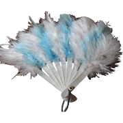 Elegant Miniature Feather Fan from Europe!