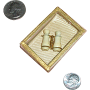 Miniature French Opera Glasses in Antique Glass-lidded Presentation Box!