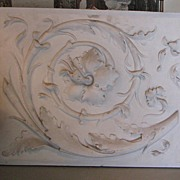 SOLD French Bas Relief Rinceau Plaster