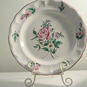 Vintage Keller & Guerin, Old Strasbourg, Luneville, France Rnd Platter