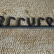 19th C French Ornate Iron Serrurerie (Locksmith) Key Sign