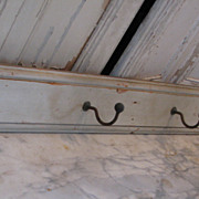 Country French Antique painted coat hat rack