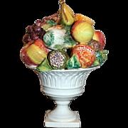 Vintage Italian Ceramic Fruit Centerpiece
