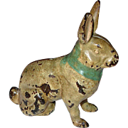 Vintage Hubley Large Seated Rabbit 1906 in Paint