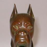 Bronze Sculpture of Boxer Dog Head