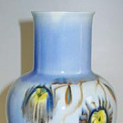Mid Century Modern Pottery Vase Signed Von Tury