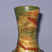 """Weller Baldin 6"""" Vase Marked Great Color"""