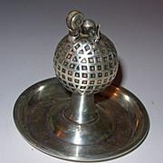 Vintage Golf Ball Sterling Table Lighter