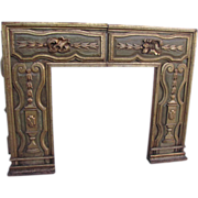 Spanish Colonial Carved and Painted Fire Surround Fireplace