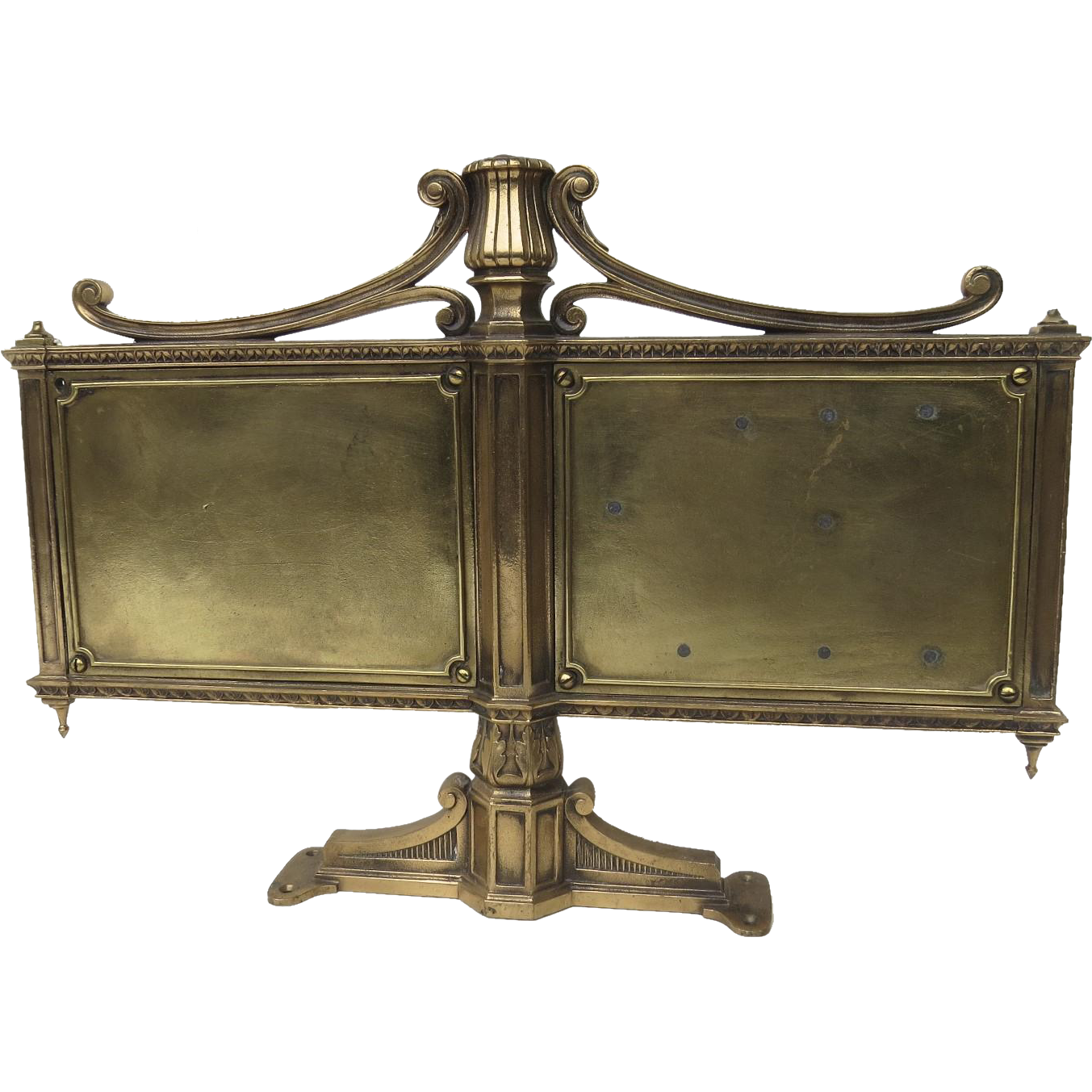 Bronze Table Mounting Bank Sign