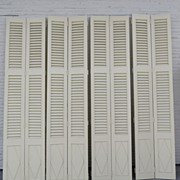 Vintage 2 Pairs of Interior Shutters