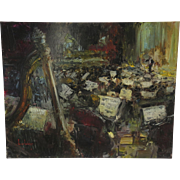 """Oil on Canvas Titled """"Gala"""" Depicting Orchestra and Conductor by Steven Shortridge"""