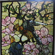 Tiffany Style Window Parrot Stained Glass
