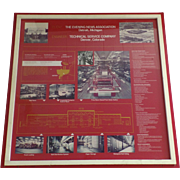 Large Framed Presentation Engineers Display for Evening News Plant Industrial Architectural De