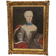 Portrait of a Louis XV Woman/Lady 19th Century