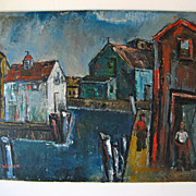 SOLD Painting on Artist Board by Sol Wilson 1896 - 1974