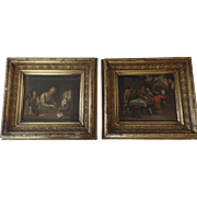 Pair of Dutch Genre Painting 19th Century