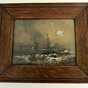 Gouache by Julian Oliver Davidson know for Naval Illustration