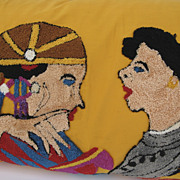 Very Large Pillow Made from Loop Stitch Hanging Egyptian