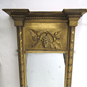 American Empire Gilt Mirror with Grape Motif.
